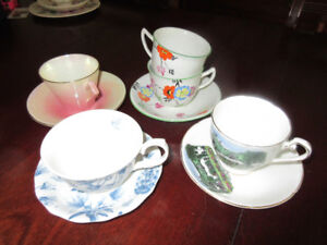 Lot of cups and saucer - great for bed/breakfast
