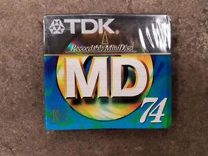 2 Blank 74min MiniDisc's (New)