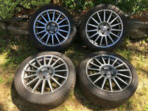 "EXCELLENT SUMMER WHEELS! 17"" Ford Alloy rims w/ G-Max tires"