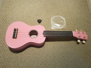 Strong Wind Pink Soprano Ukulele for Kids