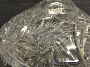 Collectible Antique Pinwheel Crystal Covered Candy Dish London Ontario image 3