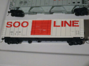 HO scale SOO Line boxcar for electric model trains