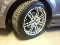235/50/18 mustang 5 bolt rims with tires