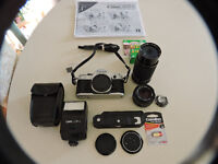 (32) Canon AE-1 35mm SLR FILM camera outfit - Great condition