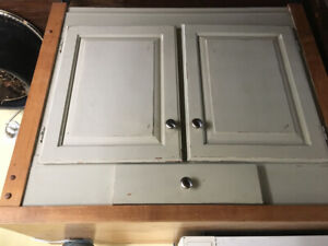 Butcher  block table cabinet for sale