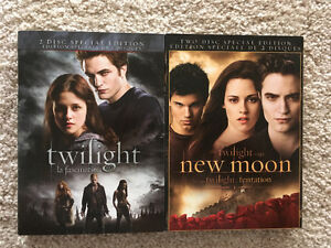 2 Disc Twilight and New Moon DVDs