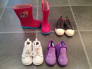 spring/fall boots/shoes for girl size 5-7 fits between 18m - 2T