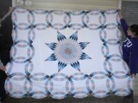 Two Hand Quilted Bedspreads and Shams