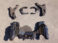 Upper & lower control arm and engine cradle