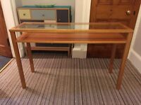Habitat Glass Topped Console Table £60