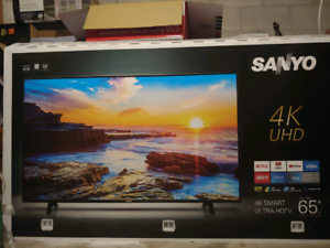 "New 65"" Sanyo 4K SmartTV with a 2 year warranty!"