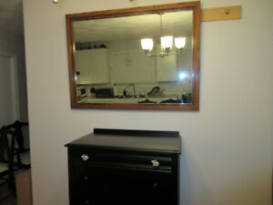 Authentic, hand made, wood, real heavy and sturdy wall mirror.