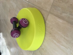 Zumba Rizer and 2.5 lb shaker set