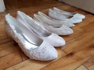 3 pairs of beautiful white shoes (perfect for a bride)