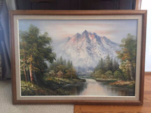 A VINTAGE OIL PAINTING FOR SALE