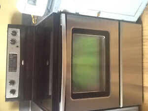 Stainless steel refrigerator and stove