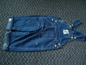 Boys Size 12 Months Patchwork Lightweight Jean Overalls