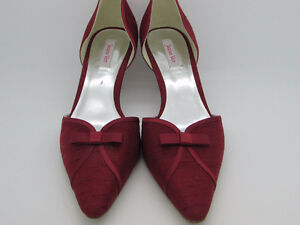 NEW! Jacques Vert Ruby Red kitten heels - size 8.5