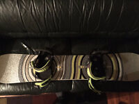 Burton X8 Snowboard & Cartel Bindings