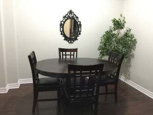 Dalton Chocolate Dining Table And 4 Chairs