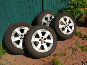 Original Toyota Prius alloy rims with summer tires