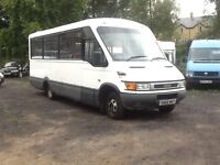 2005 1 owner ex council iveco daily 50c13 17 seat minibus with wheel chair lift Px welcome export