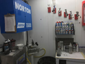2 Year Old Paint Booth and Mixing Room