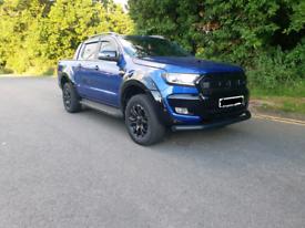 "Ford Ranger Wildtrak X 18"" Black alloy wheels"