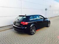 2008 58 reg Audi A3 2.0 TDI ( 140PS ) Sportback S Line + BLACK + BLACK LEATHER