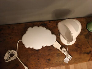 IKEA kids' lamps - cloud theme