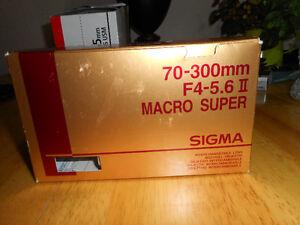 Canon and Sigma Lenses