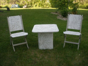 3-pc Wooden Table and Retro Chair Set