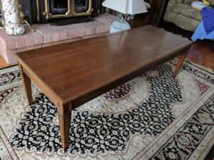 Solid Wood Coffee Table and shelved end table