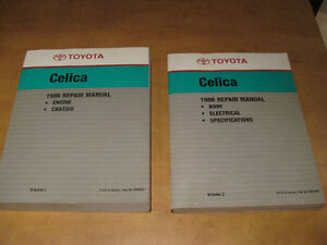 1986 Toyota Celica Factory Service Shop Repair Manuals