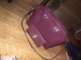 Real Michael Kors bag and purse in 'plum'