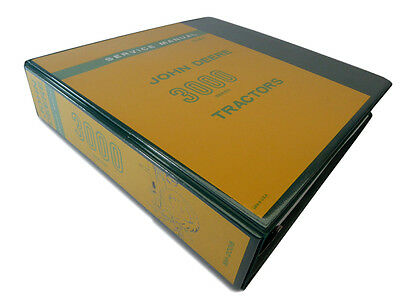 John Deere 3000 3010 3020 Tractor Technical Service Repair Manual Shop Book