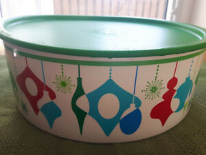 """Tupperware Christmas Storage Container """"One Touch"""""""