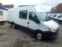 Iveco Daily S Class 2.3TD Ex H/R Semi Window Crew Van 2012 ideal camper