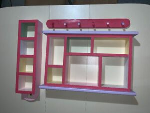 Shelves and bed crown $20.00