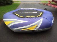 Aqua glide towable trampoline
