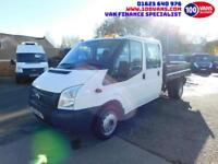 FORD TRANSIT 2.2TDCi 100PS EU5 RWD T350L DOUBLE CAB LWB WITH TOW BAR+MORE