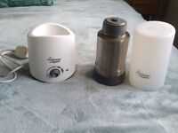 Tommee tippee bottle warmer and flask