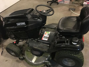 "Sears Craftsman 46"" Garden Tractor and Snow Blower Attachment"