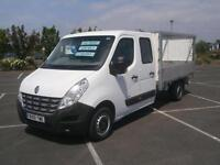 2011 61 RENAULT MASTER DOUBLE CAB DROPSIDE TRUCK 2.3TD LL35 DCI 100 LWB 7 SEATER