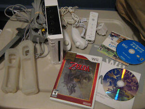 wii console with 7 games