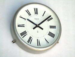 VINTAGE 10.5 INCH WEMPE CHRONOMETER WERKE SHIPS MARINE BRIDGE SLAVE CLOCK BOAT