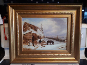 CORNELIUS KREIGHOFF FRAMED OIL PAINTING LITHOGRAPH PRINT w/COA