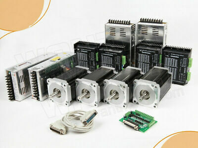 Us Free 4axis Nema34 Stepper Motor Cnc Kit1600oz 3.5a Dual Shaft 14mmdq860ma