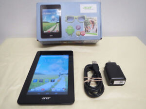 """7"""" Acer Android Tablet Dual Core 8GB WiFi Bluetooth GPS MicroSD"""