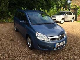 2008/08 Vauxhall/Opel Zafira 1.6 16v ( 105ps ) 5 Door Exclusive BLUE